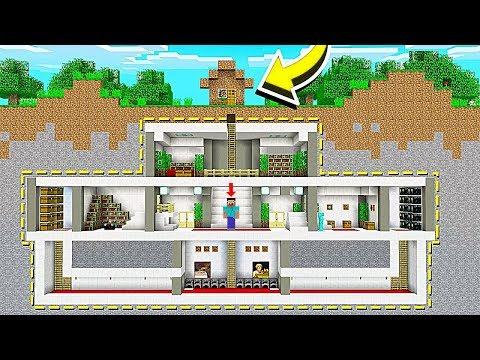 НУБ НАШЕЛ СЕКРЕТНЫЙ ДОМ ПОД ЗЕМЛЕЙ В Майнкрафте! Minecraft Мультики Майнкрафт троллинг Нуб и Про