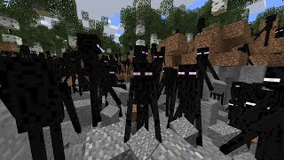 250,000 Endermen VS 1 Minecraft World