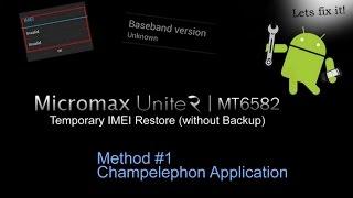 Invalid IMEI Repair - Micromax Unite 2 (Method#1)