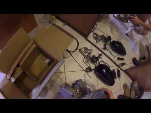Silnik do roweru 72cm3 2,4KW 3,3KM  2T prezentacja review