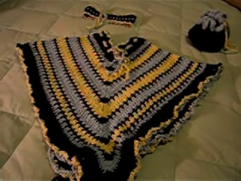 crochet child poncho