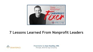 7 Lessons Learned From Nonprofit Leaders