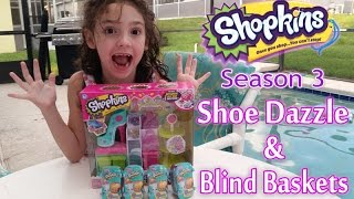 Shopkins Season 3 Shoe Dazzle Fashion Spree Collection and Blind Baskets