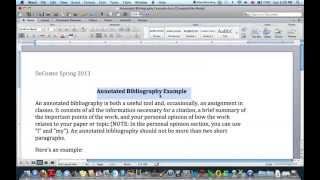 Annotate sources research paper