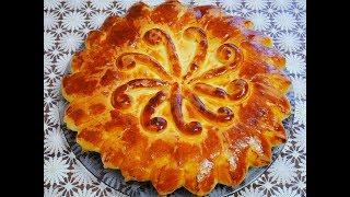 Пирог на КЕФИРЕ СДОБНЫЙ ДРОЖЖЕВОЙ пирог с ТЫКВОЙ пирог рецепт ВКУСНАЯ и КРАСИВАЯ выпечка