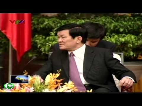 Chủ tịch nước Trương Tấn Sang tiếp hoàng tử Nhật Bản