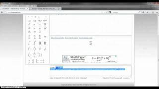 Online LaTeX formula editor and math equation editor
