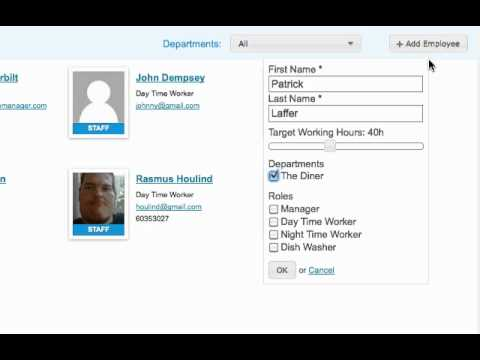 Create Employees - Employee Scheduling Software
