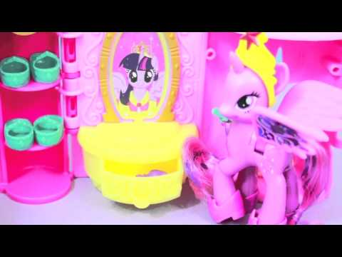 My Little Pony Mlp Castle Crystal Princess Palace Toy Review Friendship Is Magic video