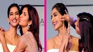 Katrina Kaif & Sonam Kapoors HOT KISS at Loreal Paris Event | VIDEO
