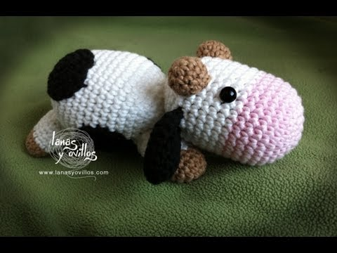 Tutorial Vaca Amigurumi Cow (English subtitles) - YouTube