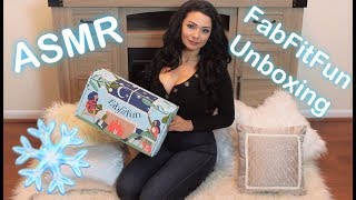ASMR An Early Christmas Gift for Myself  | FabFitFun Winter 2018 Unboxing