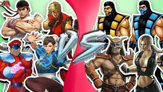 STREET FIGHTER vs MORTAL KOMBAT! Cartoon Fight Club Episode 283