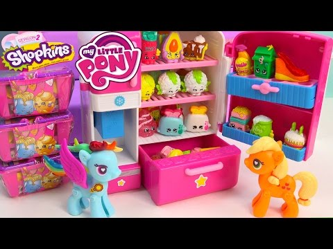 Mlp Shopkins Season 2 So Cool Fridge Refrigerator My Little Pony Pop Rainbow Dash Toy Blind Bags video