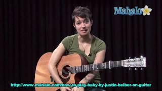 How to Play Baby by Justin Bieber on Guitar
