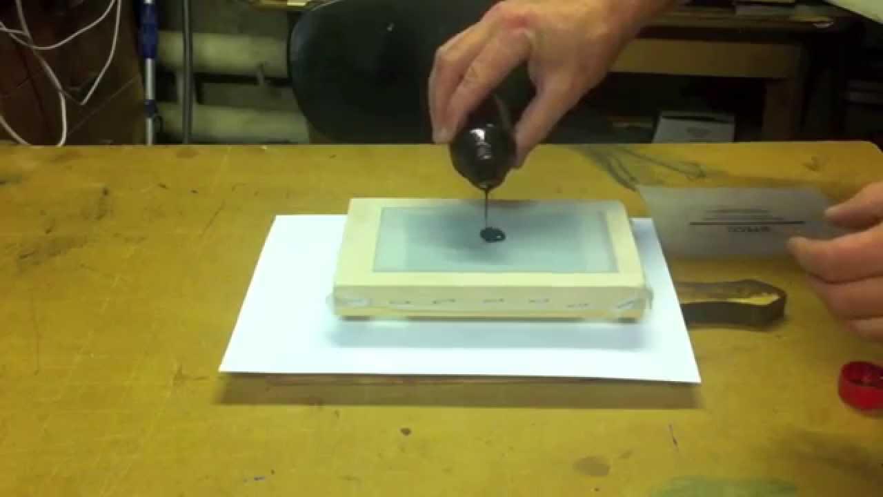 Трафаретная печать на картоне своими руками 55