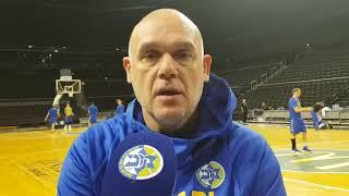 Coach Spahija ahead of the game vs Zalgiris