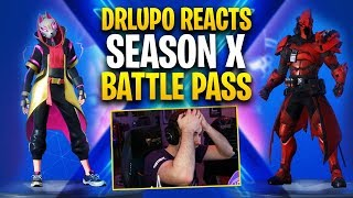 DrLupo Reacts to Season X Battle Pass!