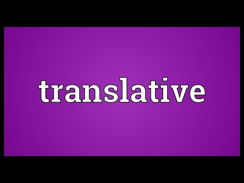 Header of translative