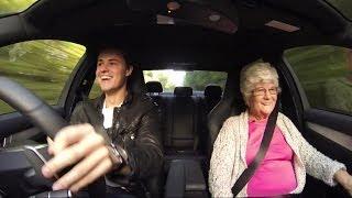 Grandmas reaction to a Mercedes Benz C63 AMG