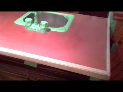 Rustoleum Countertop Paint Experiment - Part 1 - YouTube