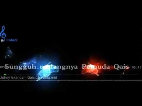 Karaoke dangdut Qais dan Laila Johny Iskandar no Vocal HQ Audio & Video