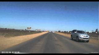 High speed car chase in South Africa