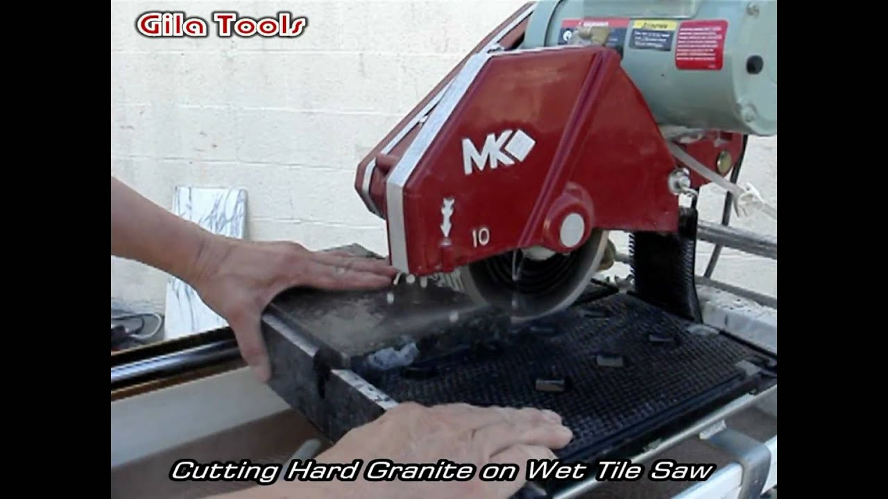 Cutting Hard Granite And Marble On Wet Tile Saw