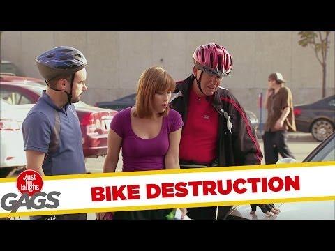 Bike Destruction Prank