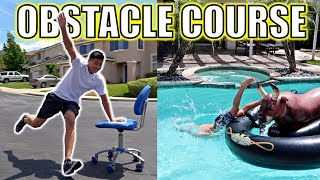 INSANE OBSTACLE COURSE CHALLENGE!! FT. ROCCO PIAZZA