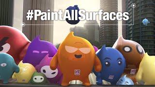 Nippon Paint Blobbies: The Unpaintable Challenge #PaintAllSurfaces