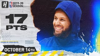 Stephen Curry Full Highlights Warriors vs LA Lakers (2019.10.14) - 17 Points!