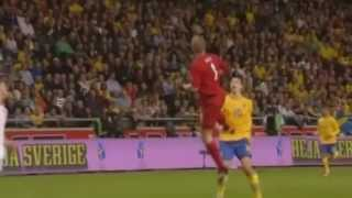 World tour of Zlatan Bicycle Kick goal against England rewiev