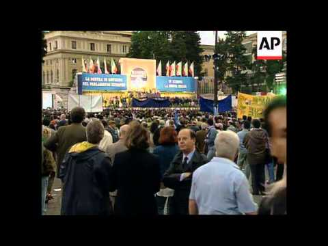 Italy - Political Rallies For European Elections