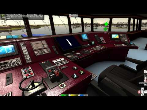 European Ship Simulator - Docking a Container Ship Gameplay HD
