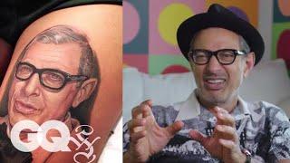 Jeff Goldblum Critiques Jeff Goldblum Tattoos Tattoo Tour Gq