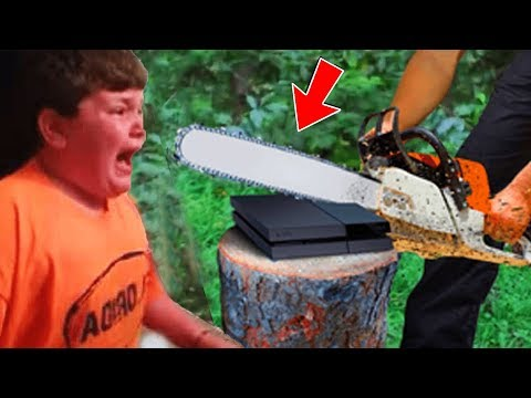 Vater ZERSTRT Playstation von 8 JtHRIGEM JUNGEN weil er zu viel Fortnite spielt Kind rastet aus!
