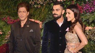 SRK's Grand ENTRY At Virat Kohli Anushka Sharma's Wedding Reception 2017 In Mumbai