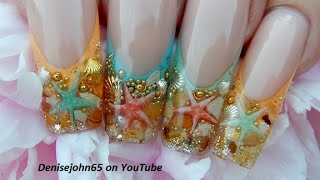 """ Starfish Ocean Pearl Nails "" ( GEL ) -THE TUTORIAL * TUTORIAL"