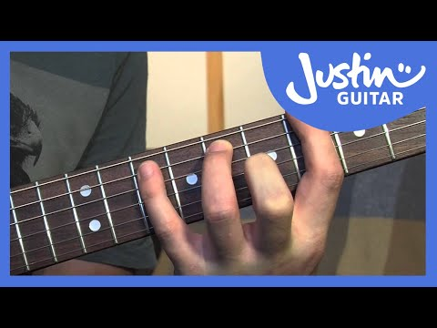 12 Bar Blues In 12 Keys (Blues Rhythm Guitar - Guitar Lesson BL-201) How to play