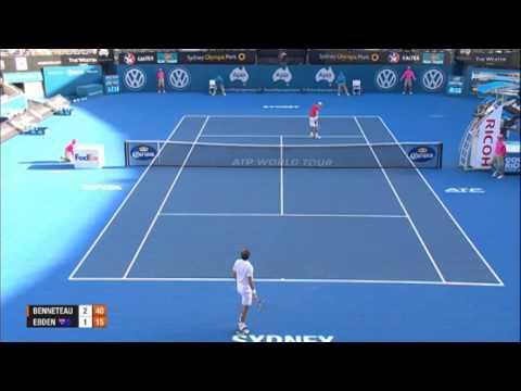 Julien BENNETEAU (FRA) vs Matthew EBDEN (AUS), Apia International Sydney 2014 Match Highlights
