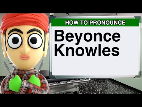 How to Pronounce Beyonce Knowles Singer