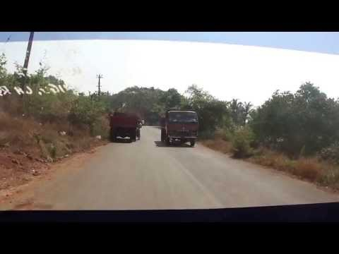 Taxi Drive on the Roads in Goa, India