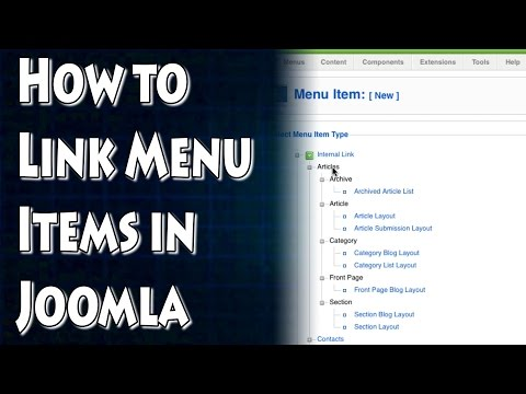 Joomla Tutorial: How to Link Articles to Your Menu