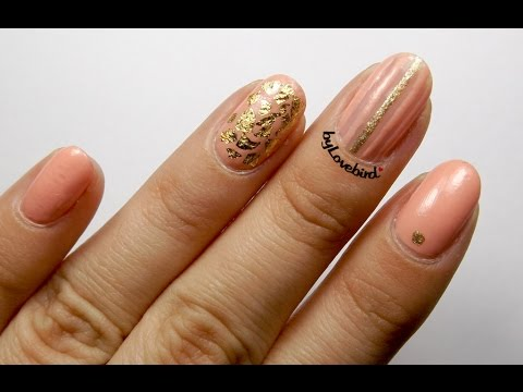 [ Nail Tutorial ] Easy Striping tape Nail Art   Bornprettystore foil review   byLovebird