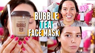 TESTING A BUBBLE TEA FACE MASK.. WTF 😲 Does It Work?!