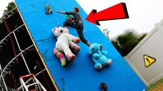DONT Fall off the Random Object Climbing Wall!! (WILL IT CLIMB?!)