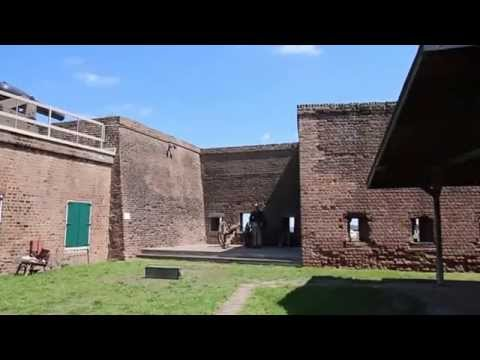 Firing the Canon at Old Fort Jackson - Savannah, GA