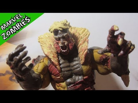 Зомби Саблезубый. Распаковка фигурки и обзор героя комиксов. Marvel Select Zombie. Люди Икс
