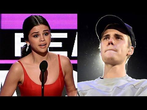 Justin Bieber CRIES After Selena Gomez's AMAs Speech